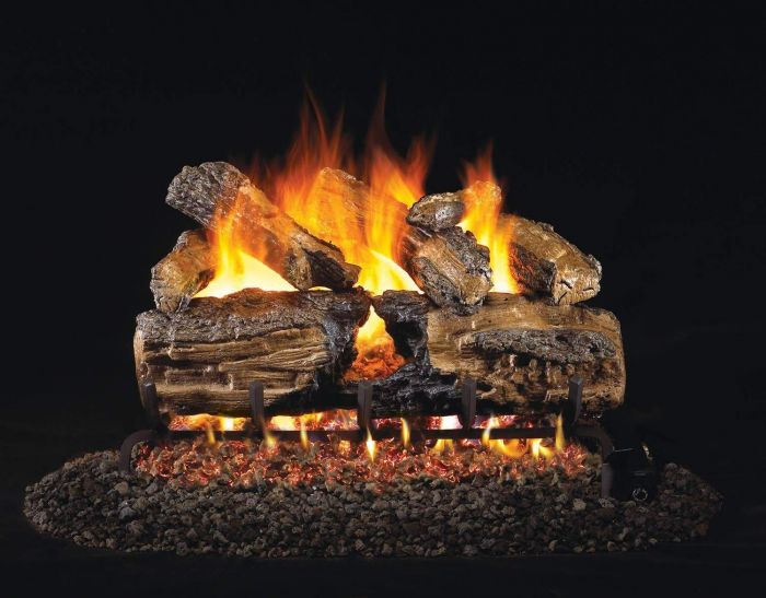 Real Fyre HCHS Burnt Split Oak Vented Gas Log Set