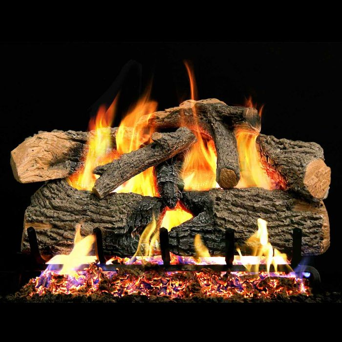 Real Fyre ENO Charred Evergreen Oak Vented Gas Logs