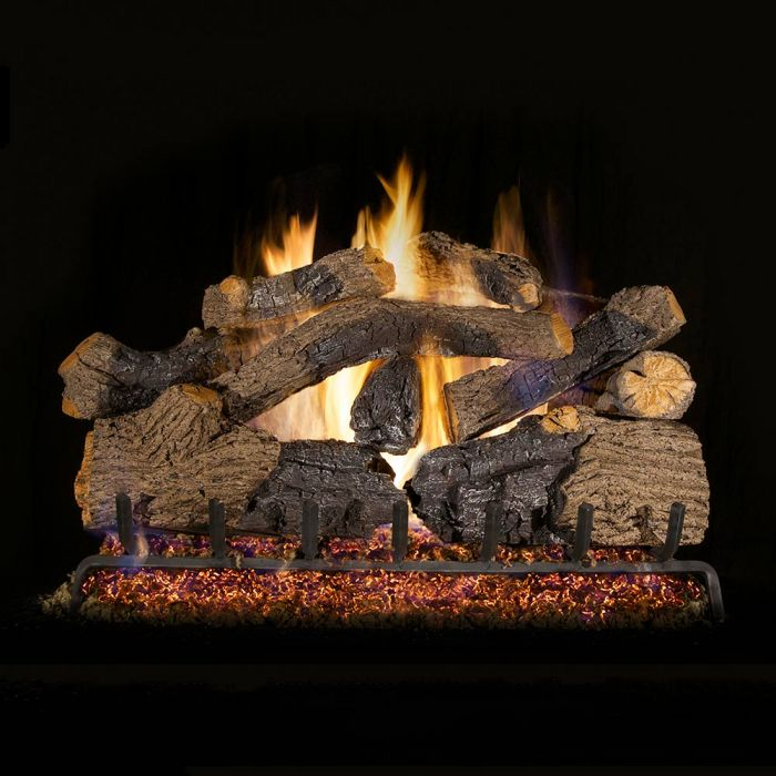 Real Fyre CHGO Charred Grizzly Oak Vented Gas Logs