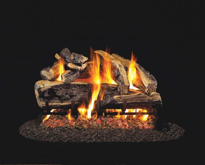 Real Fyre CHRRSO Charred Rugged Split Oak Vented Gas Log Set