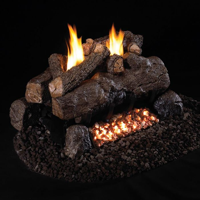 Real Fyre ECV-2 Vent Free Gas Log Set - For 2-Sided Fireplaces